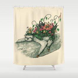 Sloth Garden Shower Curtain