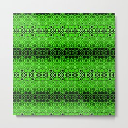Retro India Lounge Pattern (apple green) Metal Print