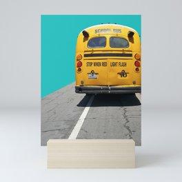 Old School Bus Mini Art Print