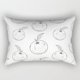 Cute and nice fruits and berry  with orange Rectangular Pillow