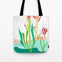 Kangaroo Paw Botanical Illustration Tote Bag