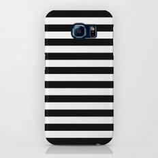 Modern Black White Stripes Monochrome Pattern Galaxy S7 Slim Case