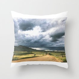 Yin Yang Skies Throw Pillow