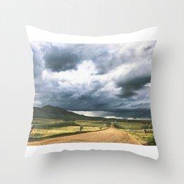 Yin Yang Skies Throw Pillow
