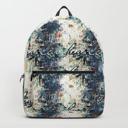 Happy Love Heart Family Pattern Blue Pastel Abstract Backpack