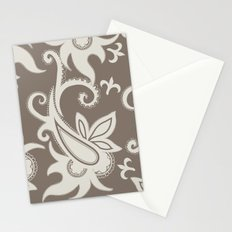 Paisley: Taupe  Stationery Cards