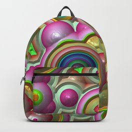 Bright shiny circles Backpack