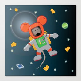 Space Mouse floating in space Canvas Print