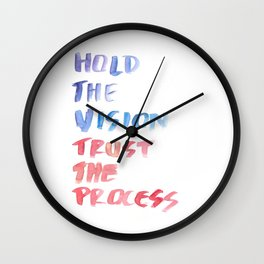 150226 Typography 52 Wall Clock