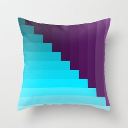 Ups and Down | Deep Within | Purple | Blue | Turquoise Throw Pillow