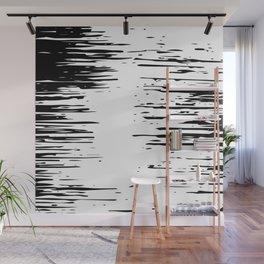 Splash Black and White Wall Mural