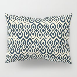 brocade indigo ivory Pillow Sham
