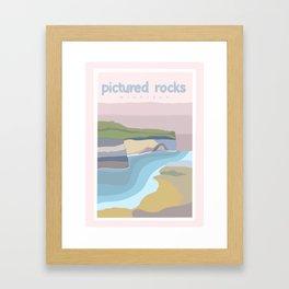 Pictured Rocks Michigan  Framed Art Print