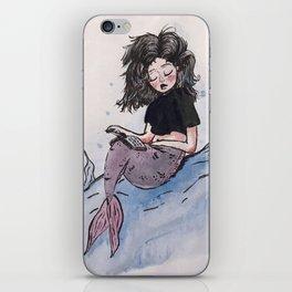 The Merbabe and Her Waterproof Book. iPhone Skin