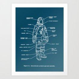 Space Suits! Art Print