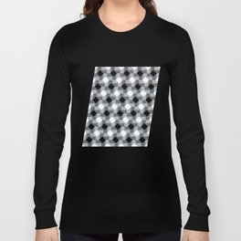Blurry Houndstooth Long Sleeve T-shirt