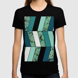 Teal Herringbone #society6 #teal #succulent T-shirt