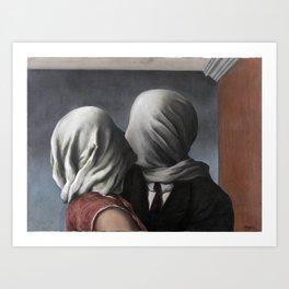 The Lovers II (Les Amants) 1928, Artwork Rene Magritte For Prints, Posters, Shirts, Bags Men Women K Art Print
