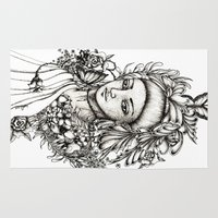 fairy Area & Throw Rugs featuring Fairy by Anca Chelaru