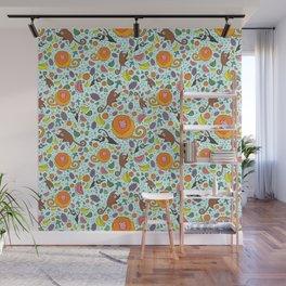 Cute Rainforest Pattern Wall Mural