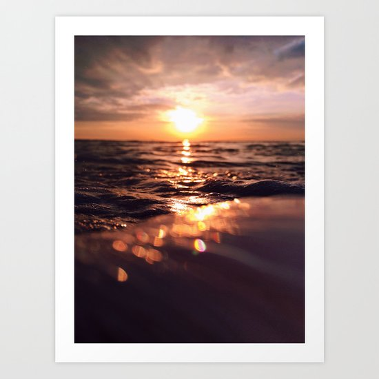 And there I find You in the mystery, in oceans deep - Portrait Size Art Print