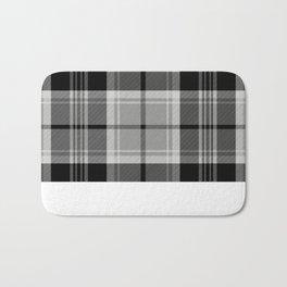 Black & White Tartan (var. 2) Bath Mat