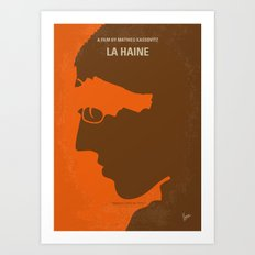 No734 My La Haine minimal movie poster Art Print