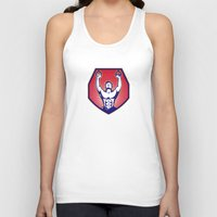 crossfit Tank Tops featuring Crossfit Training Athlete Rings Retro by retrovectors