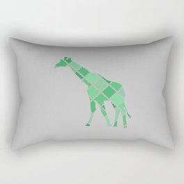 Geometric Giraffe Rectangular Pillow