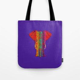 Rainbow Ganesha (Purple Background) Tote Bag