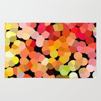 confetti Area & Throw Rugs featuring Confetti by Rosie Brown