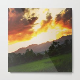 Thailand Pai Trip Travel View Sunset Metal Print