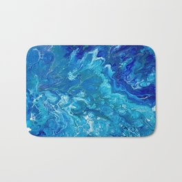 Dark Ocean Blue Bath Mat