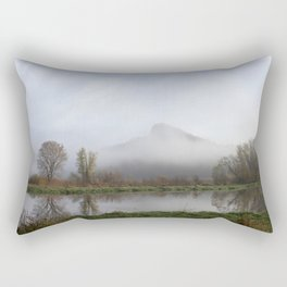 Foggy Morning Bluff Rectangular Pillow