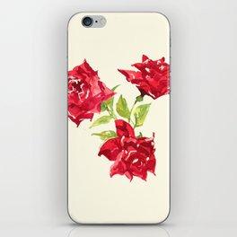 Three Red Roses iPhone Skin