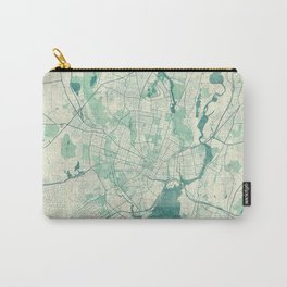 New Haven Map Blue Vintage Carry-All Pouch