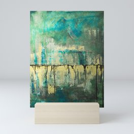 Abstract in Yellow and Green 2 Mini Art Print