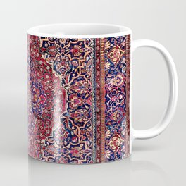 Kashan Central Persian Silk Rug Print Coffee Mug