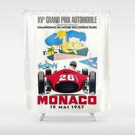 Classic Grand Prix Poster Shower Curtain