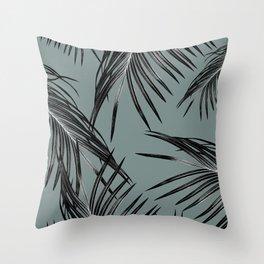 Black Palm Leaves Dream #4 #tropical #decor #art #society6 Throw Pillow
