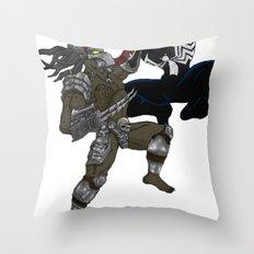 Predator vs Venom Throw Pillow