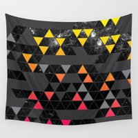 gradient Wall Tapestries featuring Gradient Space by Jorge Lopez