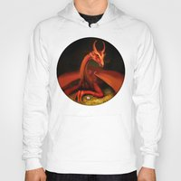 smaug Hoodies featuring Smaug by Julia Lundgren