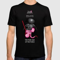Berto: The Mental-issue pig trying Darth Vader costume MEDIUM Black Mens Fitted Tee