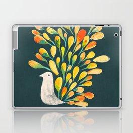 Watercolor Peacock Laptop & iPad Skin