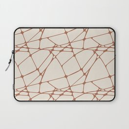 Cavern Clay SW 7701 Abstract Mosaic Pattern 1 on Creamy Off White SW7012 Laptop Sleeve