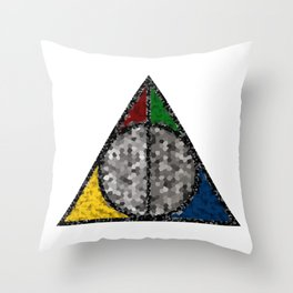Shattered Hallows Throw Pillow