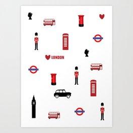 London pattern.London city.England. Art Print