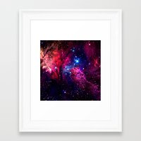 galaxy Framed Art Prints featuring Galaxy! by Matt Borchert