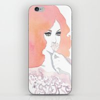 fashion illustration iPhone & iPod Skins featuring fashion illustration by Yulia Puchko